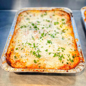 Prepared Half Pan Meals (feeds 10-12 people), Lasagna Bolognese (meat)