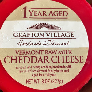 Cheese, Cheddar Cheese, Grafton Village, 8 oz