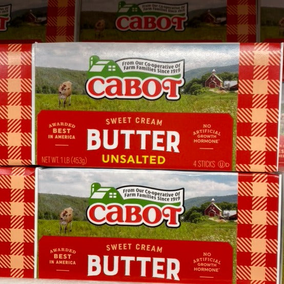Butter, Cabot's Sweet Cream Unsalted Butter, 1 lb.