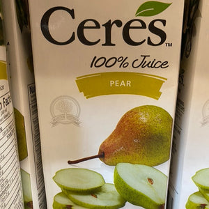 Ceres Juice, Pear Juice, 33.8 fl oz.