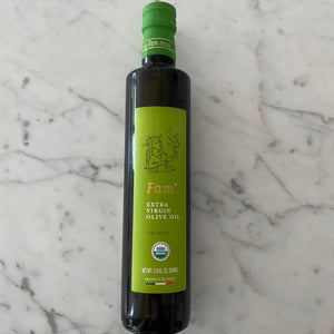 Olive Oil, Fam, Organic Extra Virgin Olive Oil, 17 fl oz.