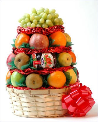 Fruit with Imported Jam Basket