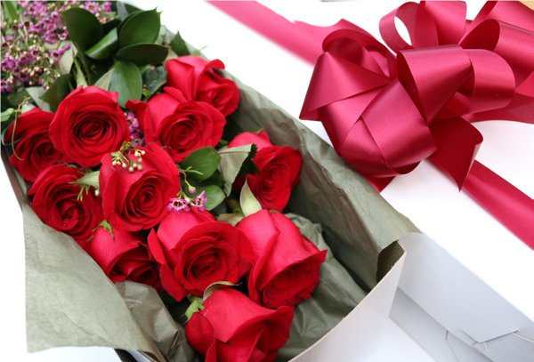 1 dozen Boxed Premium Long Stem Roses