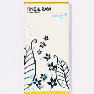 Chocolate, Fine & Raw, Organic Sea Salt Chocolate, 2 oz.