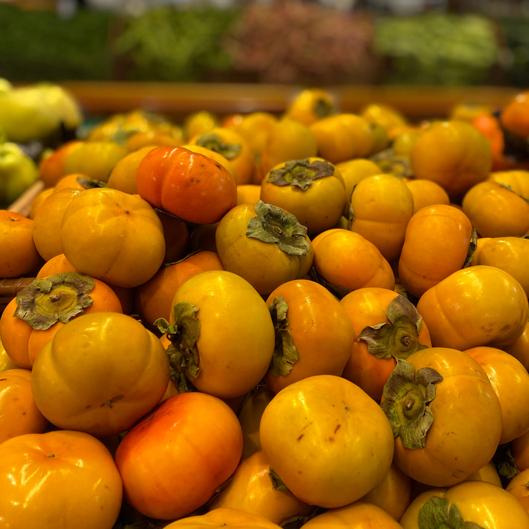 Persimmons, *Fuyu or Sharon Fruit, lb.