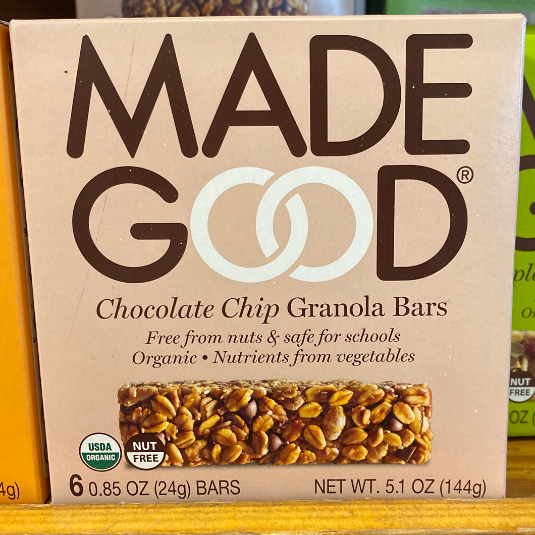 Made Good, Chocolate Chip Granola Bar, 6 Bars