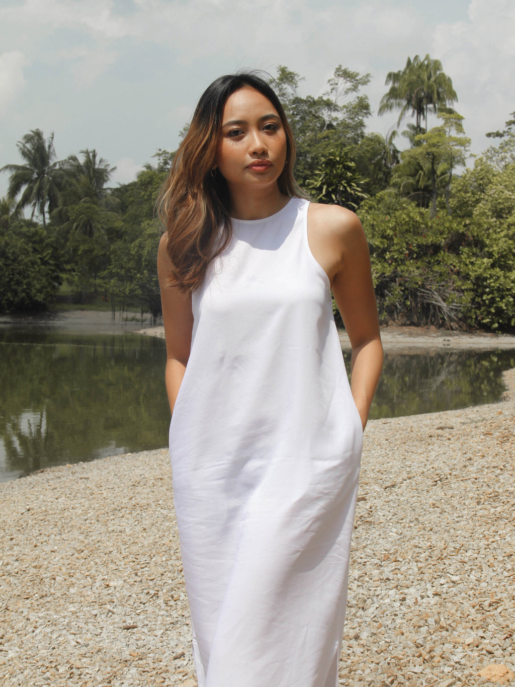 Canyon Dress in White