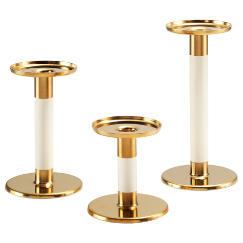 Candlestick, Set of 3 (GLITTRIG)