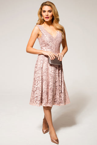 HotSquash V-Neck Floral Lace Dress
