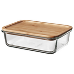Food Container with Lid, Rectangular