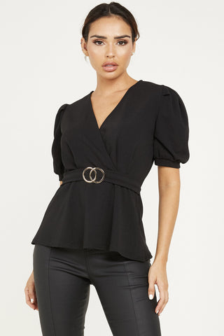 Quiz Buckle Peplum Top