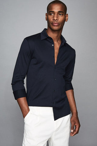 Reiss Chapter Mercerised Cotton Shirt