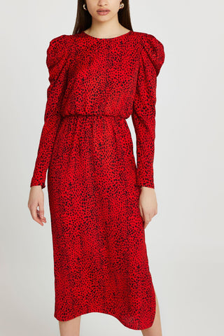 River Island Waisted Midi Dress