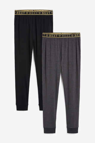 Two Pack Slim Cuffed Joggers