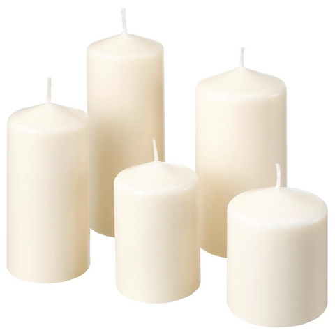 Unscented Block Candle, Set of 5 (FENOMEN)