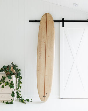 VIC TANTAU - 8'10 1957 Blasa Pig, Single Fin, Balsa Teak Stringer