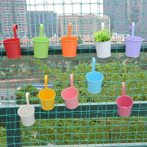 10pc/set Colorful Hanging Flower Pots