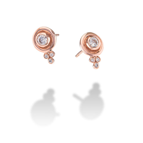 CHARMED EARRINGS ROSE GOLD