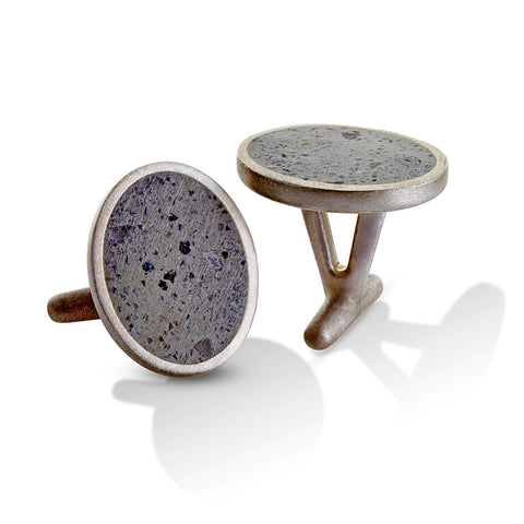 OVAL PAVE CUFFLINKS