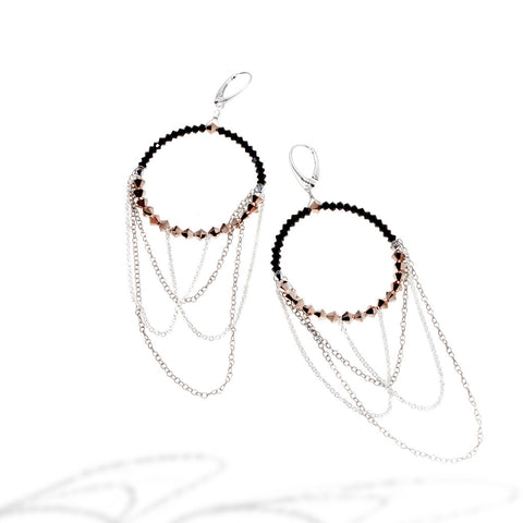 TALON WINGED EARRINGS IN ROSE