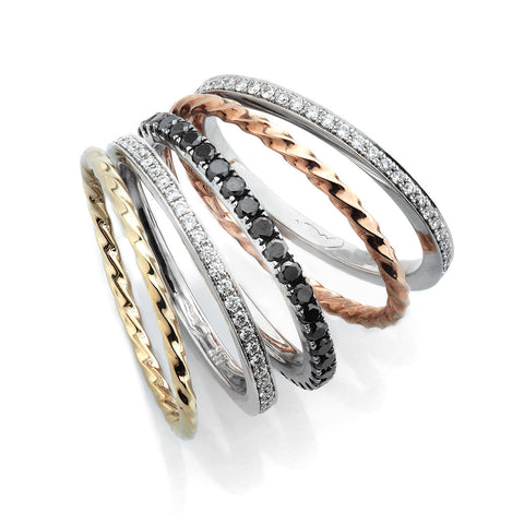 EVELYN STACKING WEDDING SET