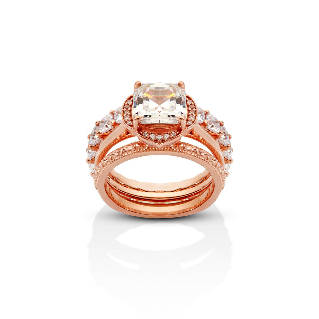 RADIANT CUT NOUVEAU RING STACK