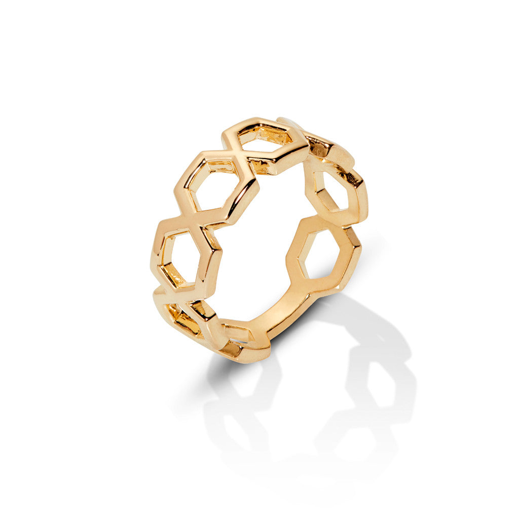 ERA OPEN HEX RING