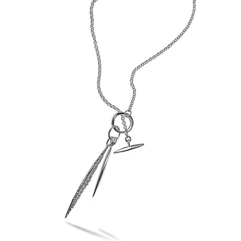 SILVER FRAGMENT TOGGLE NECKLACE