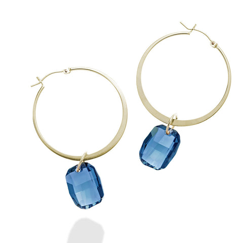 RAW HOOP EARRINGS
