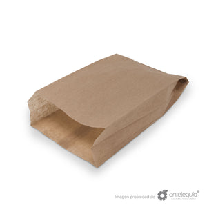 Bolsa de Kraft Galletera BG - Desechable Biodegradable Entelequia