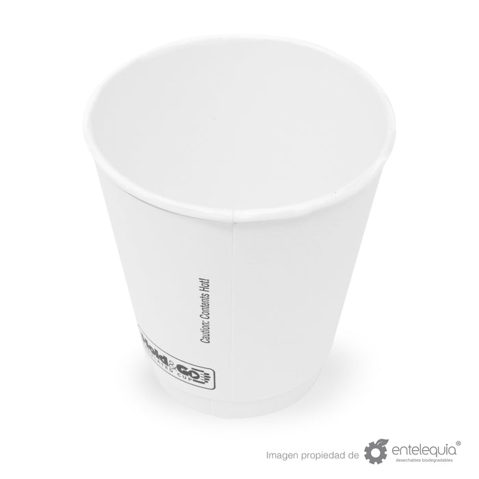 Vaso Hold & Go 8oz - Desechable Biodegradable Entelequia 600 pzas