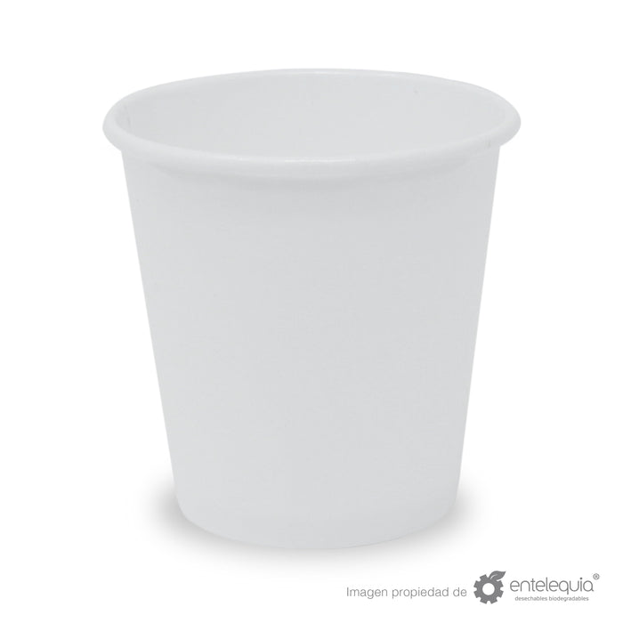 Vaso de Papel bebida caliente 4oz VC4 SH - Desechable Biodegradable Entelequia 1,000 pzas