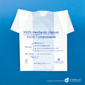 Bolsa Camiseta Mediana BCCE- Desechable Biodegradable Entelequia 1000 pzas