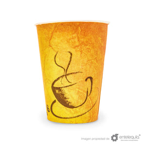 Vaso Vending de papel bebida caliente 8oz - Desechable Biodegradable Entelequia 100/2000 pzas