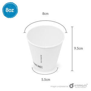 Vaso Hold & Go 8oz - Desechable Biodegradable Entelequia