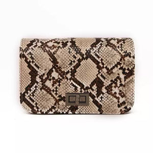 Snake Print Messenger Bag