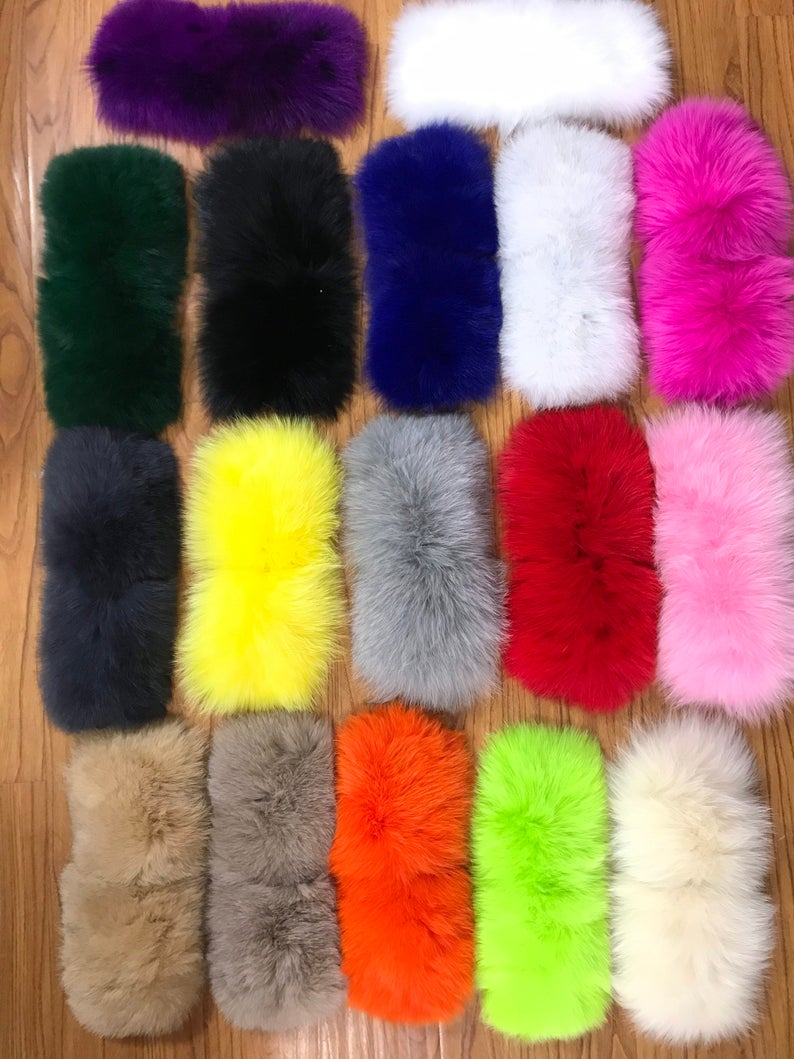 Customized Big Fur Slides