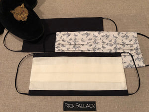 IVORY WITH BLACK TRIM BOARDERS / EXCLUSIVE ELEGANT LUXURY DESIGN / FINE COTTON