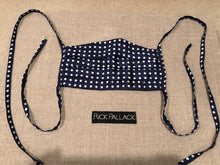 Load image into Gallery viewer, NAVY / WHITE DOT DESIGN / CUSTOM BESPOKE LINING MADE IN ITALY