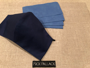 NAVY BLUE LUXURY STRETCH COTTON / FILTER POCKET