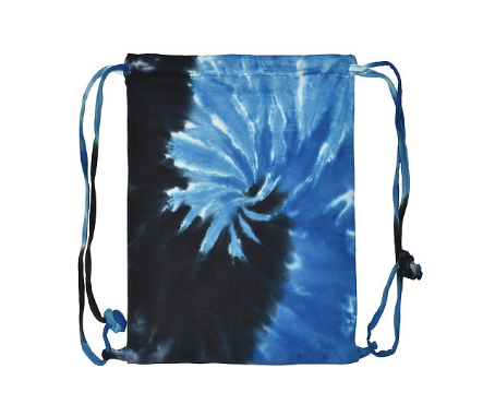 HAND TIE DYED PACIFIC BLUE FLEECE BAG 17