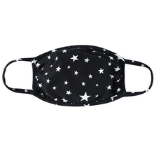 Load image into Gallery viewer, BLACK / WHITE STARS JERSEY / ADULT / SMALL WOMENS / YOUTH / KIDS