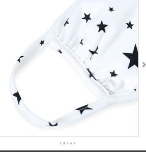 WHITE / BLACK STARS JERSEY / ADULT / SMALL WOMENS / YOUTH / KIDS