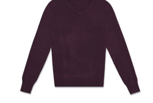 MENS V- NECK 100% CASHMERE LUXURY SWEATER / 20 COLORS