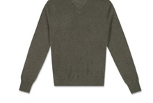 Load image into Gallery viewer, MENS V- NECK 100% CASHMERE LUXURY SWEATER / 20 COLORS