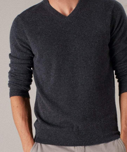 MENS V-NECK 100% CASHMERE LUXURY SWEATER / 20 COLORS