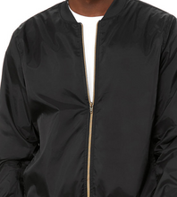 Load image into Gallery viewer, BOMBER JACKET BLACK LIGHTWEIGHT / XS TO XX-L