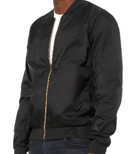 BOMBER JACKET BLACK LIGHTWEIGHT / XS TO XX-L