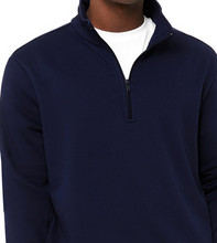Load image into Gallery viewer, LUXE QUARTER ZIP PULL OVER FLEECE / NAVY / GREY / XS TO XX-L