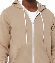Load image into Gallery viewer, LUXE FULL ZIP HOODIE FLEECE / 10 COLORS / XS TO XX-L